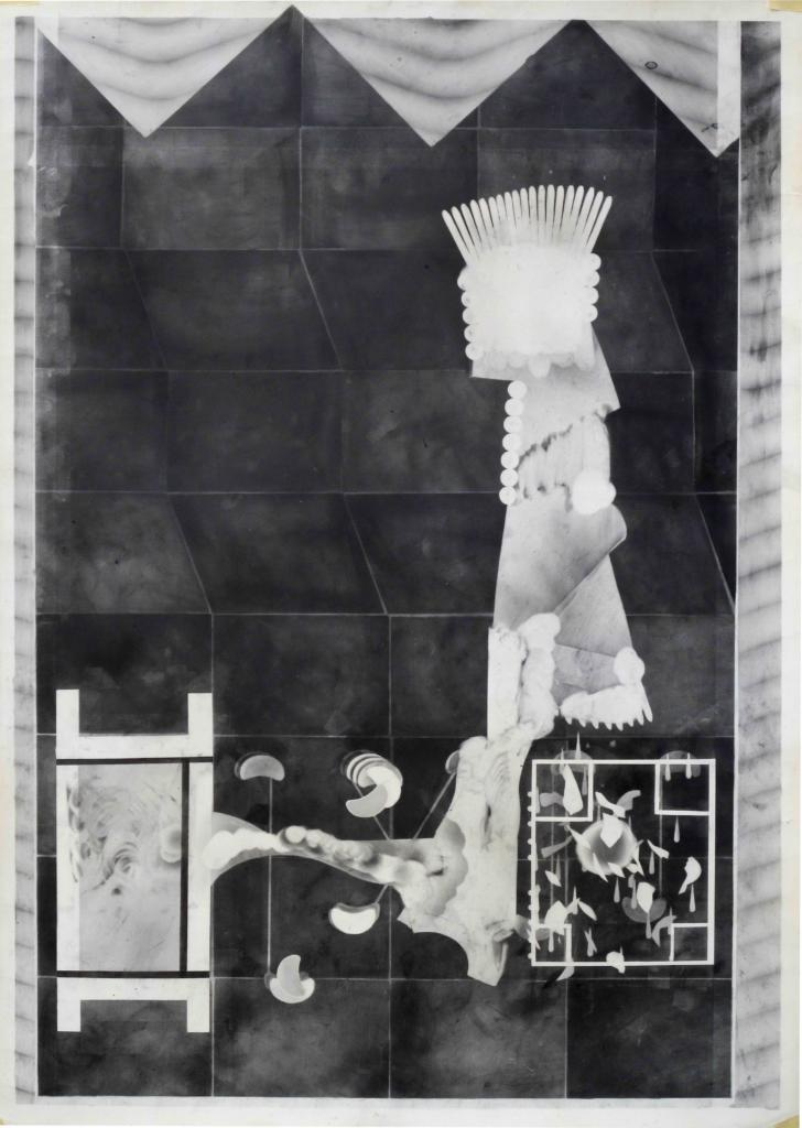 Philip Vormwald, Sans-titre, technique mixte sur papier, 70x100cm, 2015