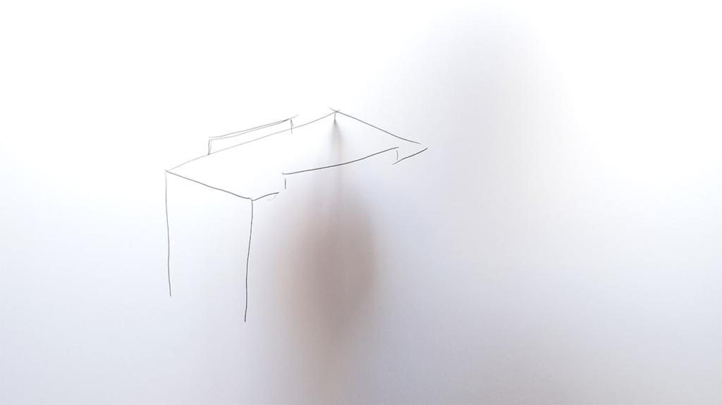 Emma Cozzani, Reading Space, photogramme extrait de carnet de dessin vidéo, 2016
