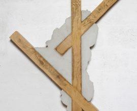 Benjamin Sabatier, Sans titre, 2015, 137 x 99 x 8 cm, béton et bois, photo © JP Humbert, courtesy Benjamin Sabatier et galerie Catherine Issert