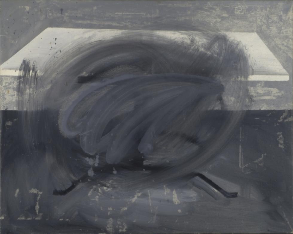 Gerhard Richter, Tisch (Table), 1962, Huile sur toile, 90 cm x 113 cm San Francisco Museum of Modern Art, Courtesy Gerhard Richter, 2016