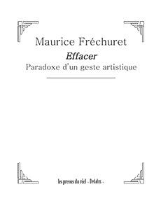 Maurice Frechuret-effacer