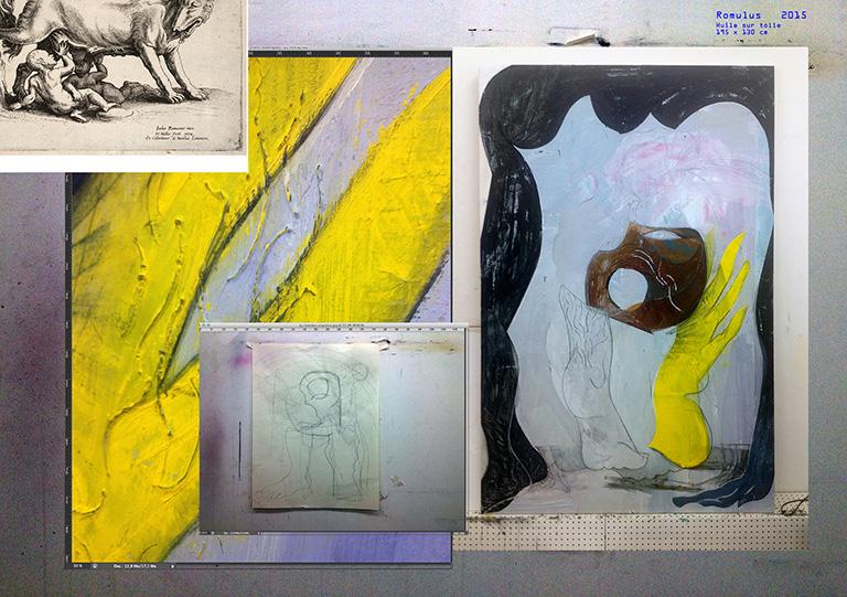 Olivier Passieux, Romulus, 2015, Huile sur toile, 195 x130 cm, Photo : O. Passieux