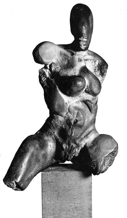 Femme assise, 1990, bronze, h : 34cm