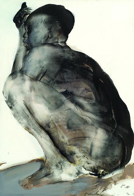 Rêveuse, 2002, encre de chine, 110x75cm