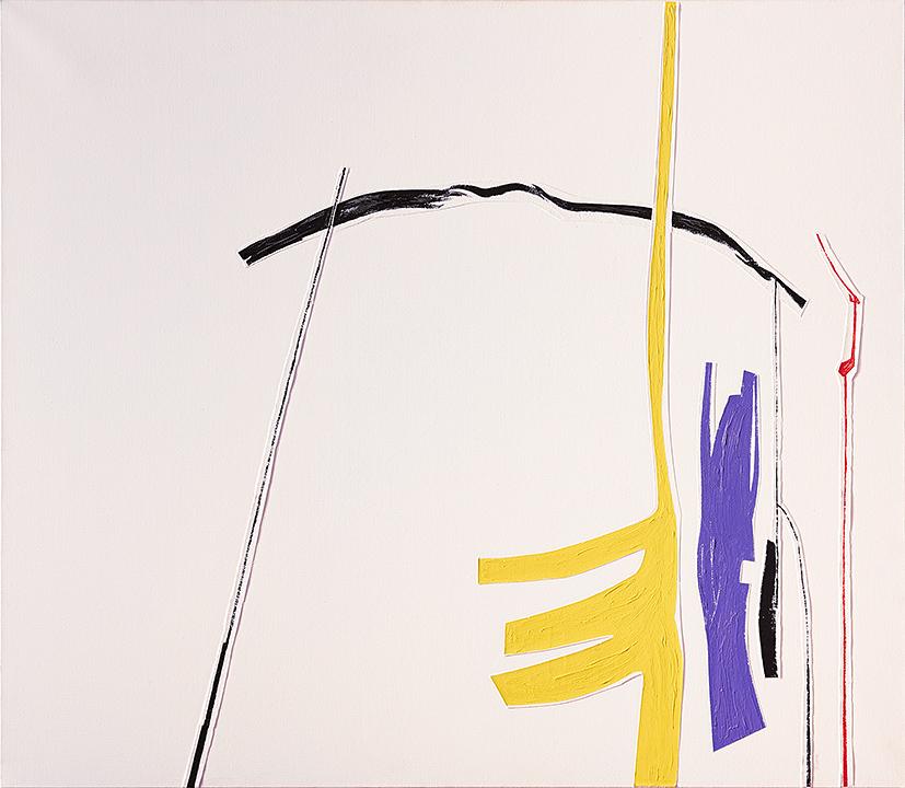 JC Rossel : Espace blanc en quatre couleurs-1, 2011, huile sur toile, 102x117cm (photo François Fernandez)