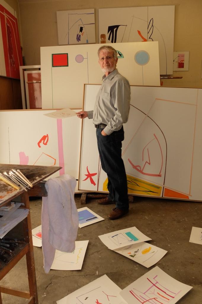 Atelier Jean-Claude Rossel, Roquebrune Cap-Martin, 2016 (photo archives Rossel)