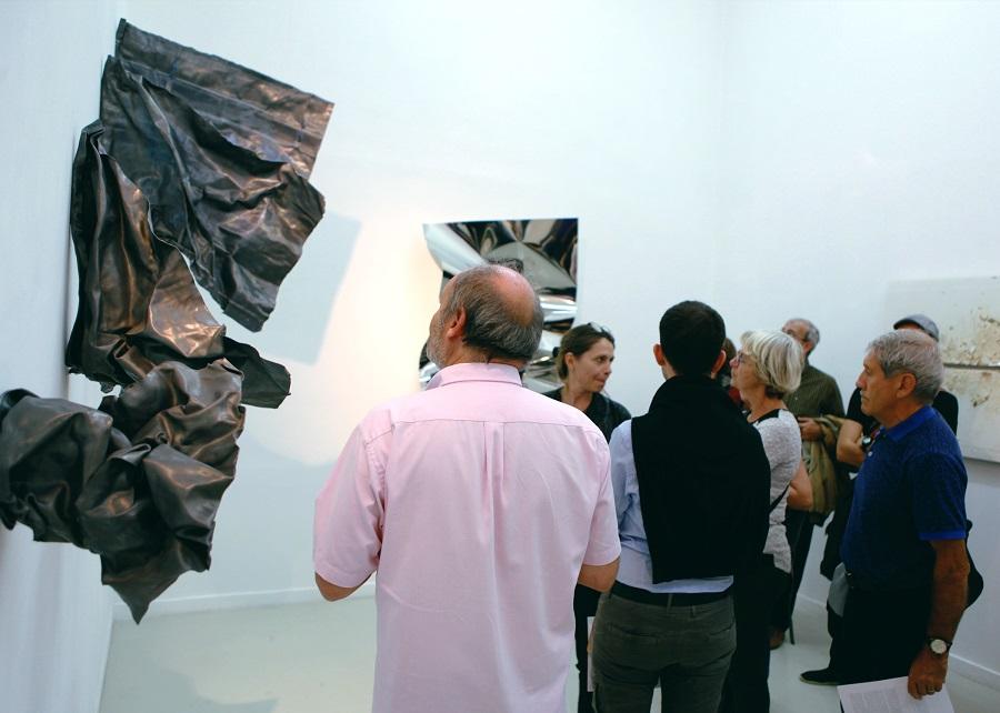 Les Visiteurs du Samedi 15 Octobre 2016 – exposition Mechanical Stress de Florian Pugnaire – Galerie Eva Vautier © Julien Mc Laughlin