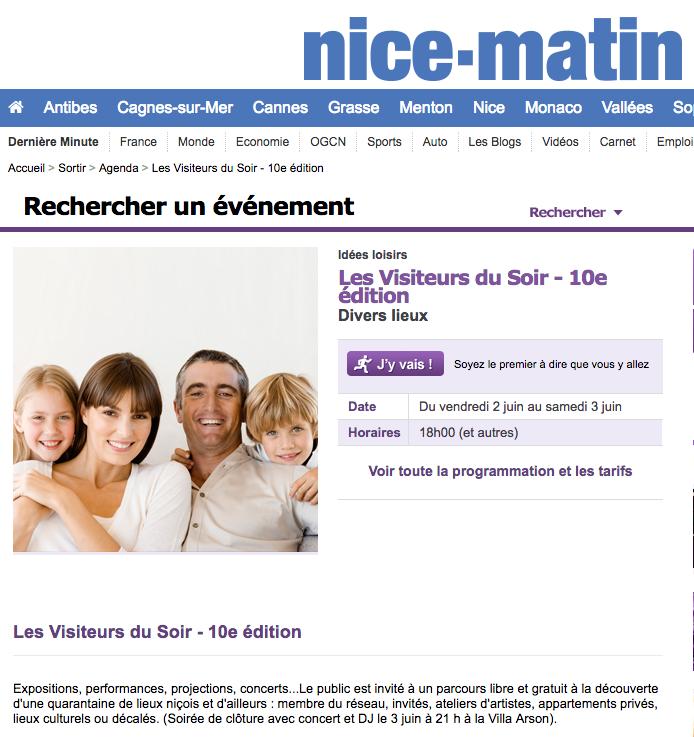 Nice Matin – Les Visiteurs Du Soir 2017
