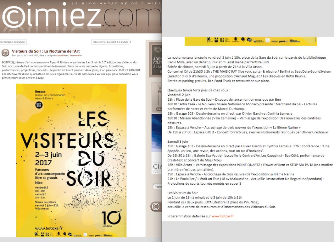 Cimiez.com – Les Visiteurs Du Soir 2017
