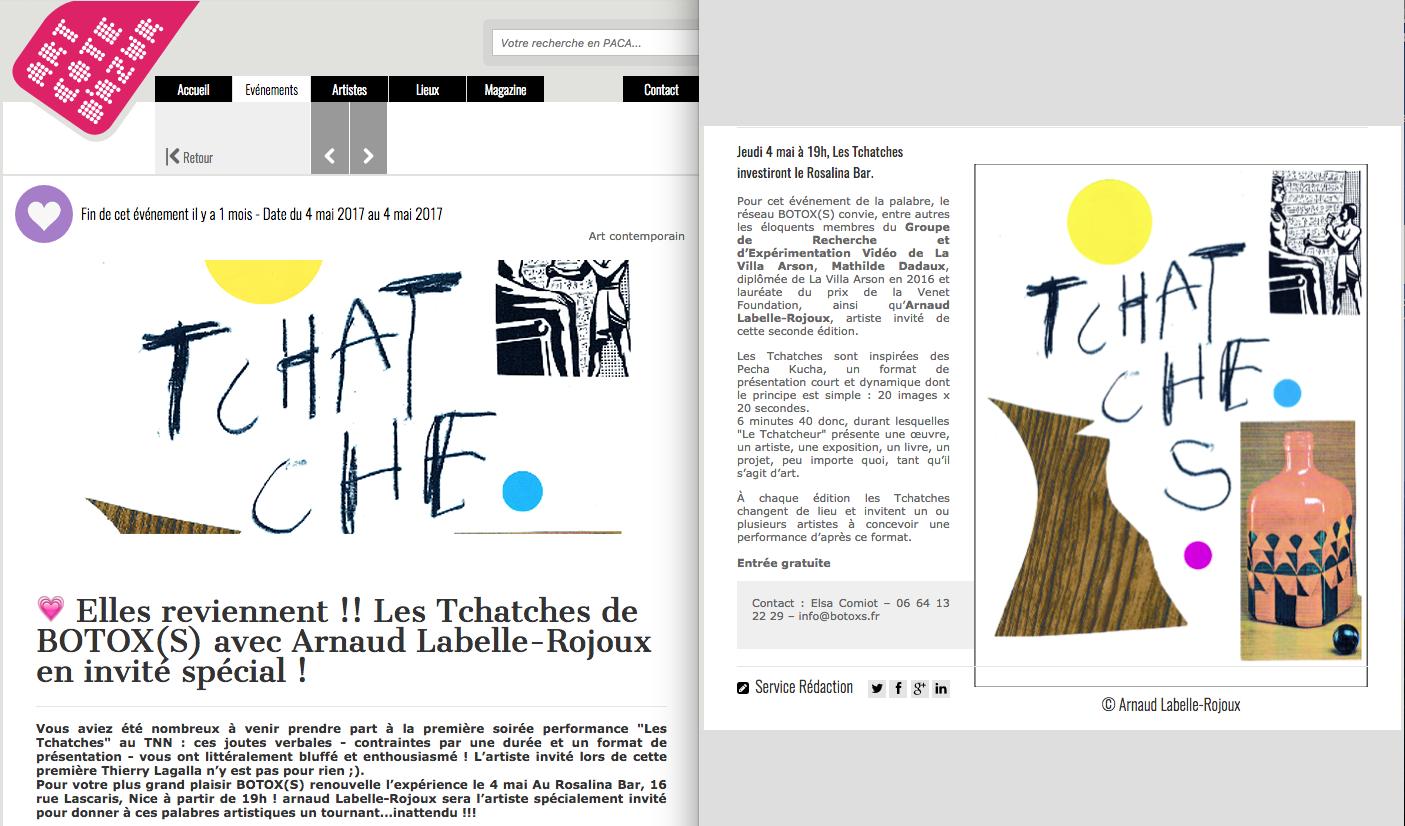 Art cote d'Azur – Les Tchatches