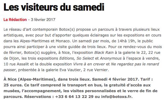 Monaco Hebdo – Les Visiteurs du Samedi