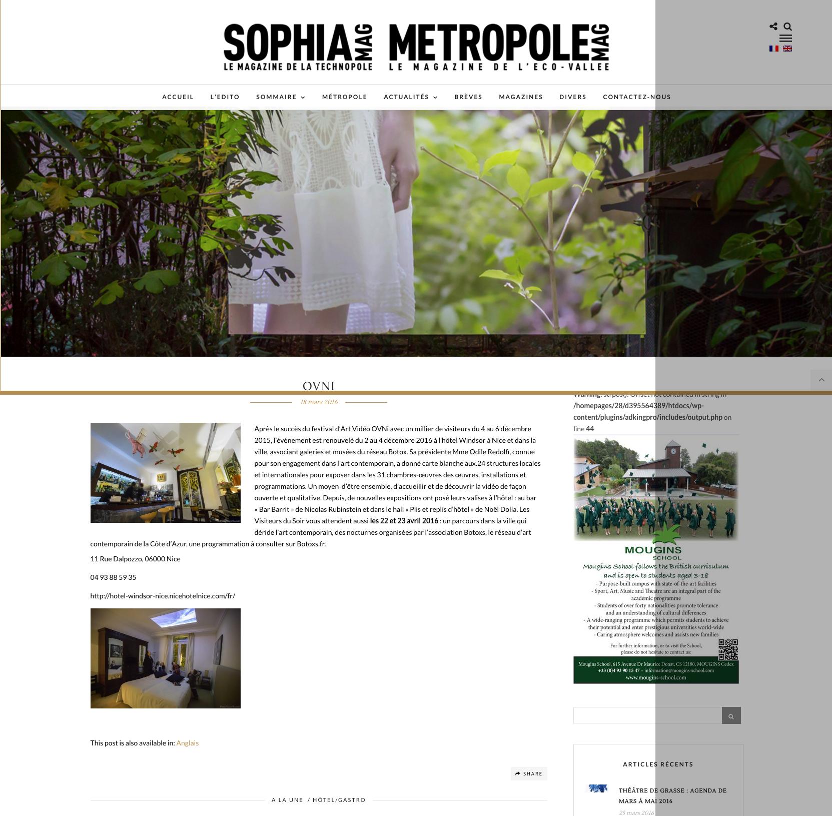 Sophia Mag – Ovni