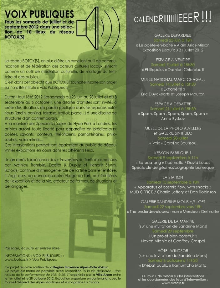VOIX PUBLIQUES 2012