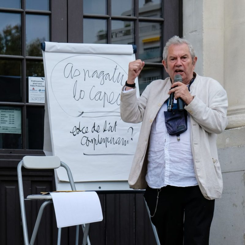 Discours inaugural de Ben – Place de la Gare du Sud ©Evelyne Creusot