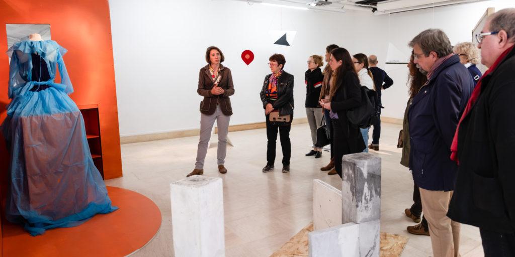 Visite du Pavillon Bosio, Ecole Supérieure d'Arts Plastiques de la Ville de Monaco par Mathilde Roman © Philippe Pallanti
