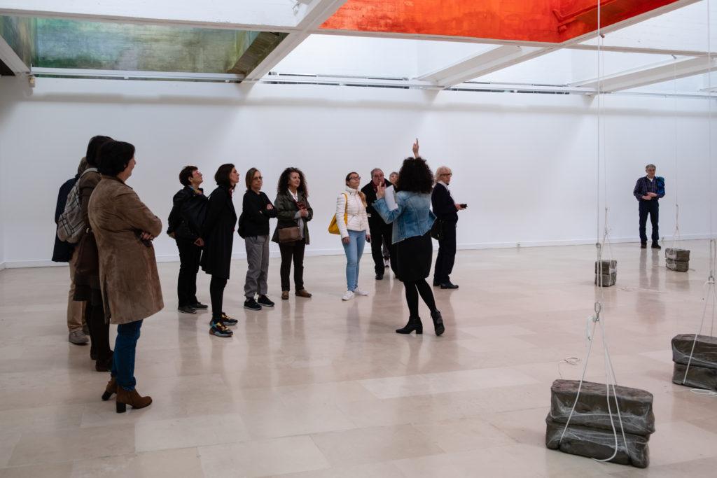 Visite de l'exposition « dérobées » de Linda Sanchez et Flora Moscovici à la Villa Arson, par Silvi Sarkisyan © Philippe Pallanti