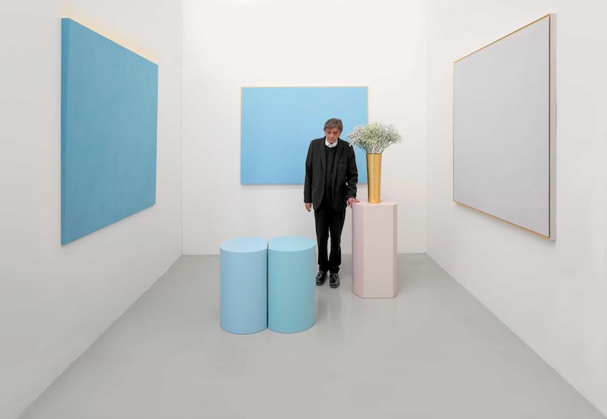 Ettore Spalletti, Ombre d'azur, transparence – Villa Paloma