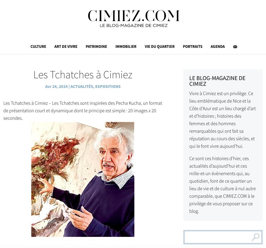 Cimiez.com – Les Tchatches du 2 mai 2019