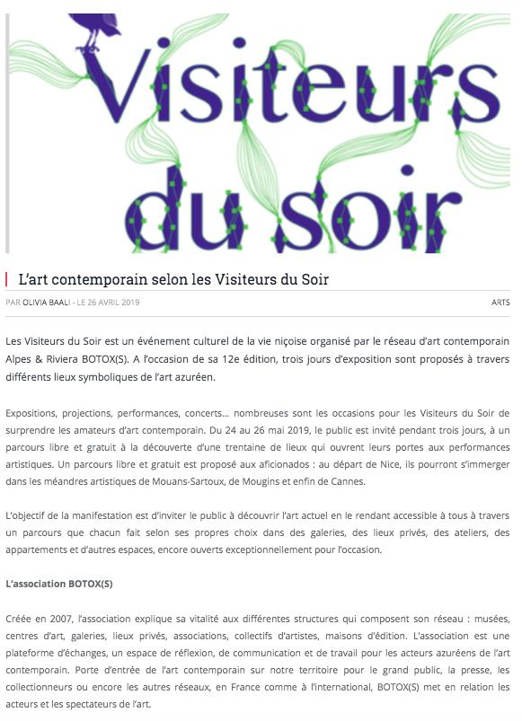 Nice Premium – Les Visiteurs du Soir 2019