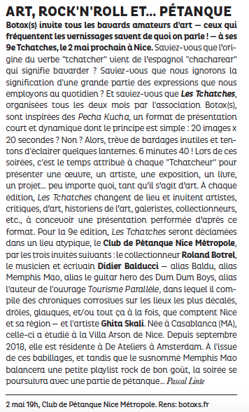 La Strada – Les Tchatches du 2 mai 2019