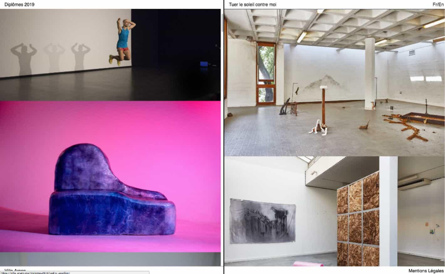Site internet dédié aux 21 jeunes artistes de la promotion 2019