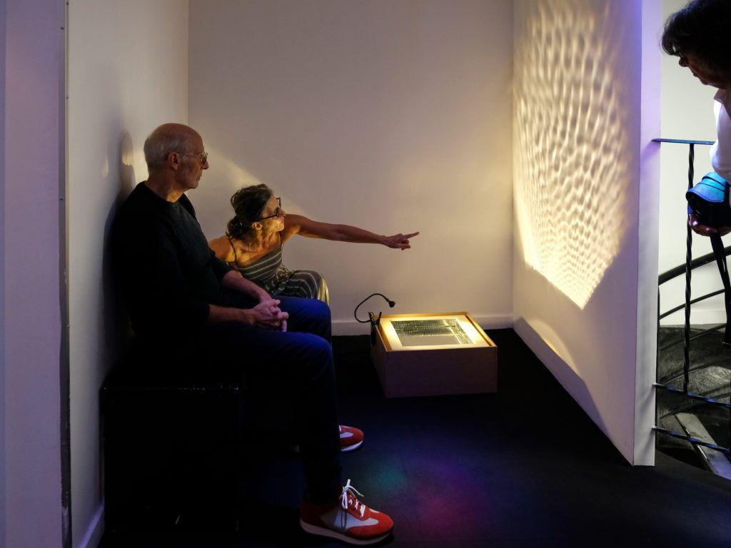 Visite de l'Espace Rossetti par Isabelle Sordage, artiste et directrice du lieu © Evelyne Creusot
