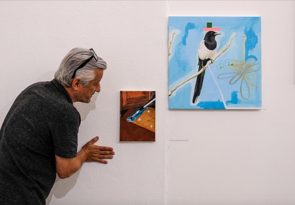 Visite de l'exposition « TOI MEME! » d' Arnaud Labelle-Rojoux et Thierry Lagalla à l' Espace A Vendre, par Thierry Lagalla et Nicolas Vaquier © Evelyne Creusot