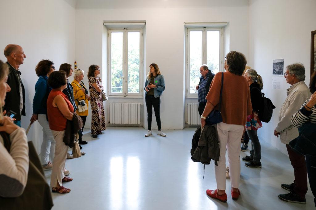 Visite de l'exposition « Bis repetita placent » à l' Espace de l'Art Concret – centre d'art contemporain, par Alexandra Deslys © Evelyne Creusot