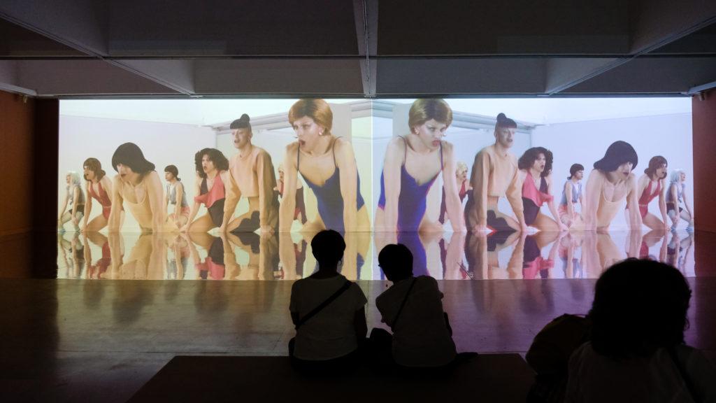 Installation « Fucking Perfect Body Double 36 » de Brice Dellsperger, à la Villa Arson © Evelyne Creusot