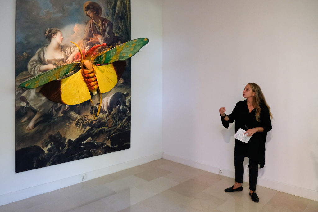 Visite de l'exposition « Monster Rebellion » de Monster Chetwynd à la Villa Arson, par Auréliane Lombardo © Evelyne Creusot