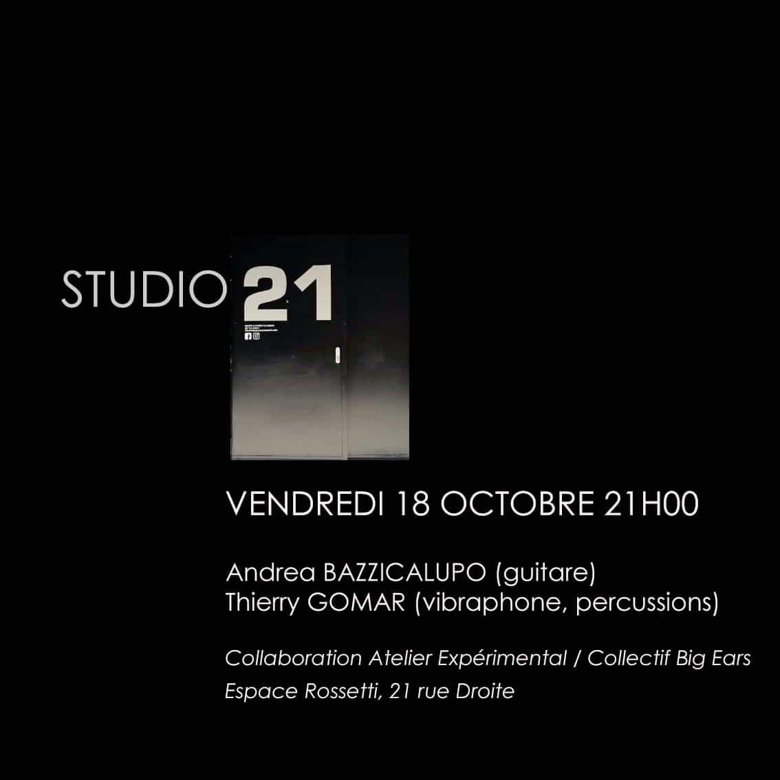 Concert / Studio 21 – Espace Rossetti