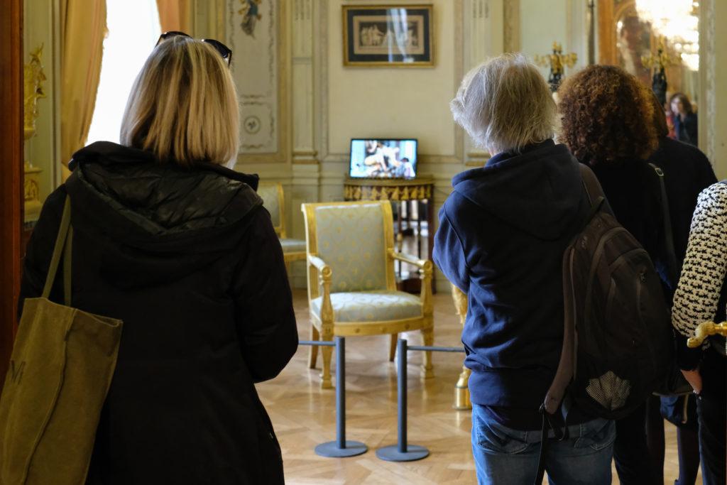 Vidéos de Laurent Fiévet au Musée Masséna, présentées par l'artiste © Philippe Pallanti