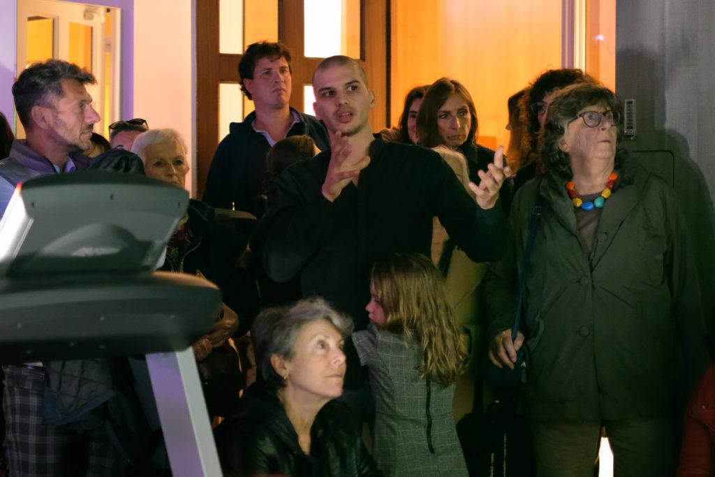Vidéo de Jérémy Griffaud à l'Hôtel Splendid, présentée par l'artiste © Philippe Pallanti