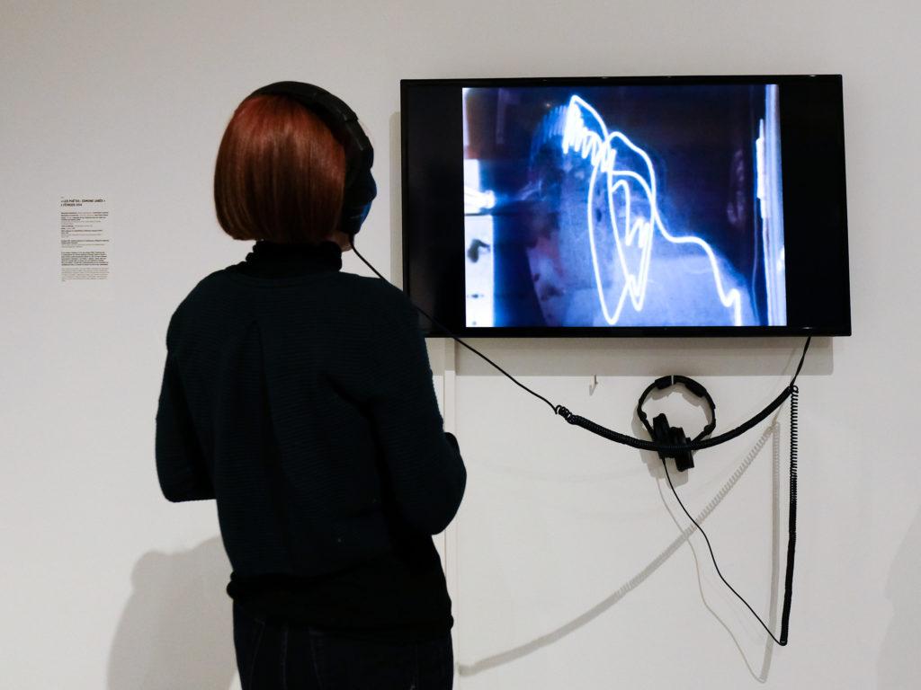 Visite de l'exposition de Lars Fredrikson au Musée d'art moderne et d'art contemporain de Nice, par Alix Doyen © Evelyne Creusot