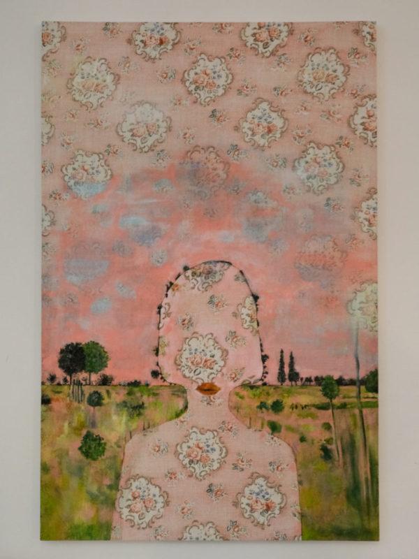 Oeuvre d'Anne Sophie Viallon à la Moving Art Gallery © Philippe Pallanti