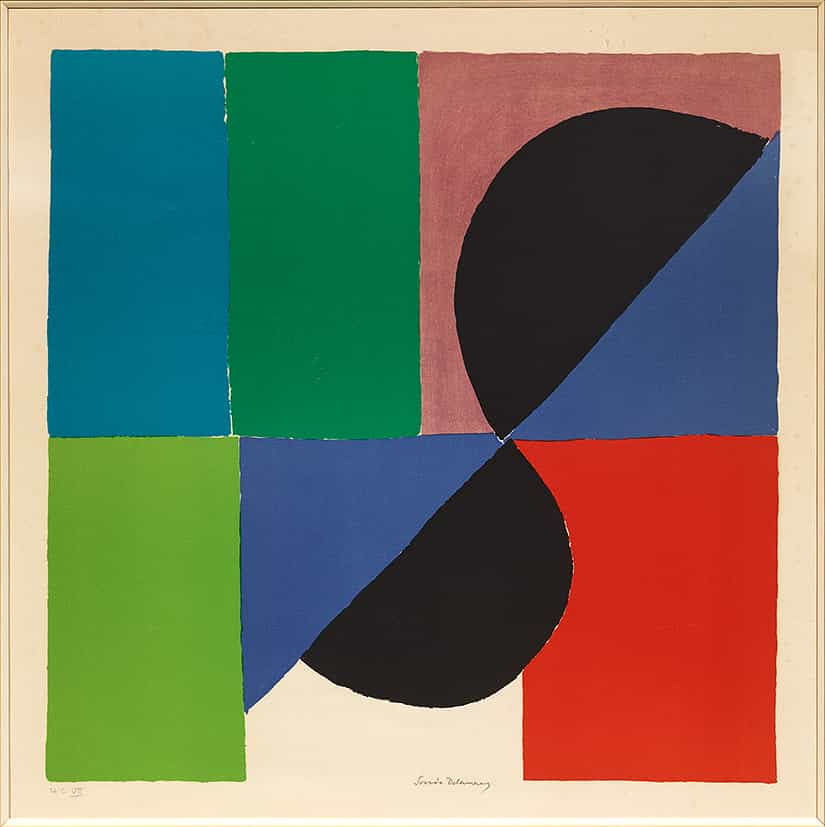 Sonia Delaunay : Nocturne Matinale, 1972, lithographie couleurs (HC/VII) © François Fernandez
