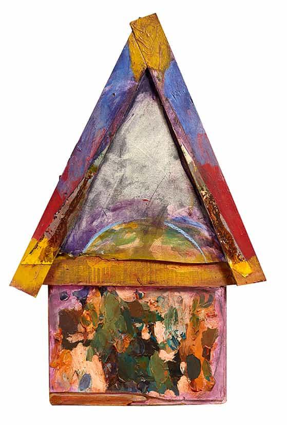 Georges Autard : Maison, 1974, bois, verre, carton, peinture à l'huile © François Fernandez