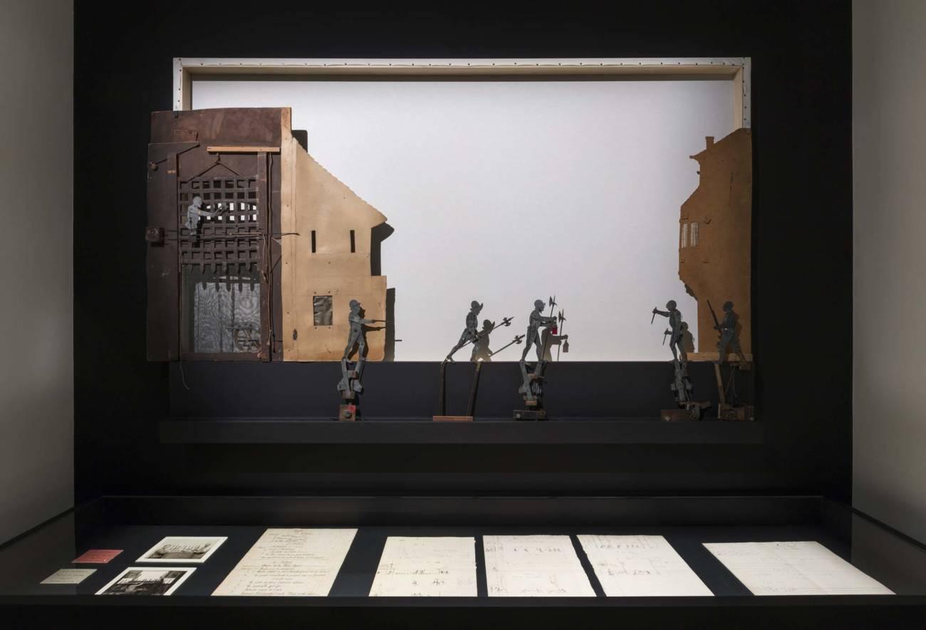 Vue d'exposition NMNM – Villa Paloma // Variations - Les Décors lumineux d'Eugène Frey présentés par João Maria Gusmão // Photo : Andrea Rossetti, 2020