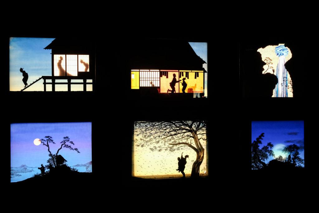 Visite de l'exposition « Variations, les décors lumineux d'Eugène Frey présentés par Joao Maria Gusmao » à la Villa Paloma – Nouveau Musée National de Monaco, par Leslie Astier © Philippe Pallanti