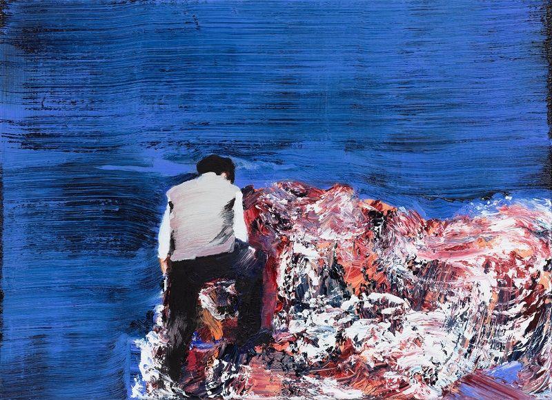 Marine WALLON, Temir, 2020, Huile sur toile, 40 x 55 cm, photo © Nicolas Brasseur, Courtesy de l'artiste et de la galerie Catherine Issert