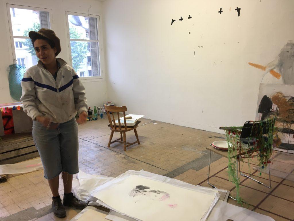 Atelier de Mouna Bakouli au 109 © Elsa Comiot