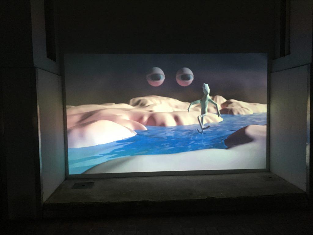La Station – Exposition vidéo d'Aldéric Trével, une proposition des Capucins © Elsa Comiot