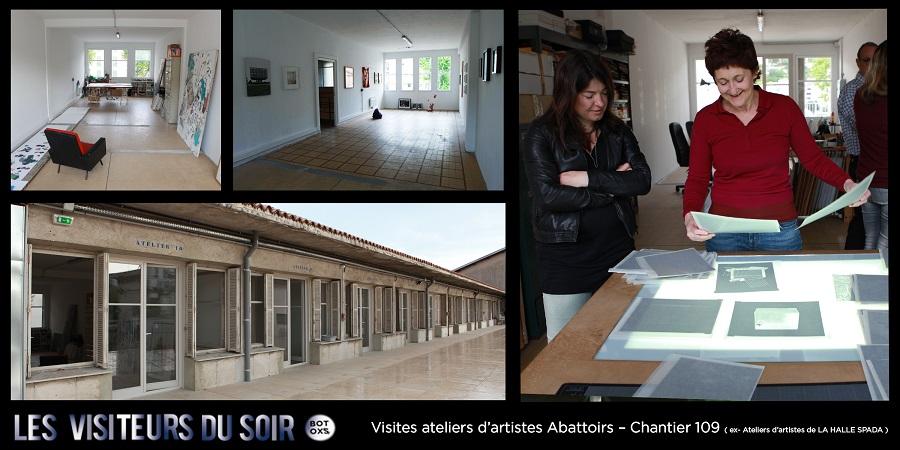 Visites ateliers d'artistes Abattoirs – Chantier Sang Neuf ( ex- Ateliers d'artistes de LA HALLE SPADA ) © Julien Mc Laughlin