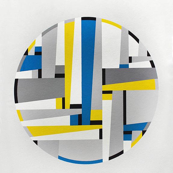 Fritz Glaner, Tondo (1965_1972), 1982 (c)droits réservés PortefolioLetzeWerke comprenant 3 sérigraphies - édition 29/42, préface par Max Bill en juin 1982, Edition Media Neuchâtel. En cours de Donation au Centre National des Arts plastiques pour l'Espace de l'Art Concret-Donation Albers-Honegger
