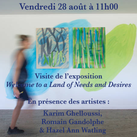 "Visite de l'exposition ""Welcome to a Land of Needs and Desires"""