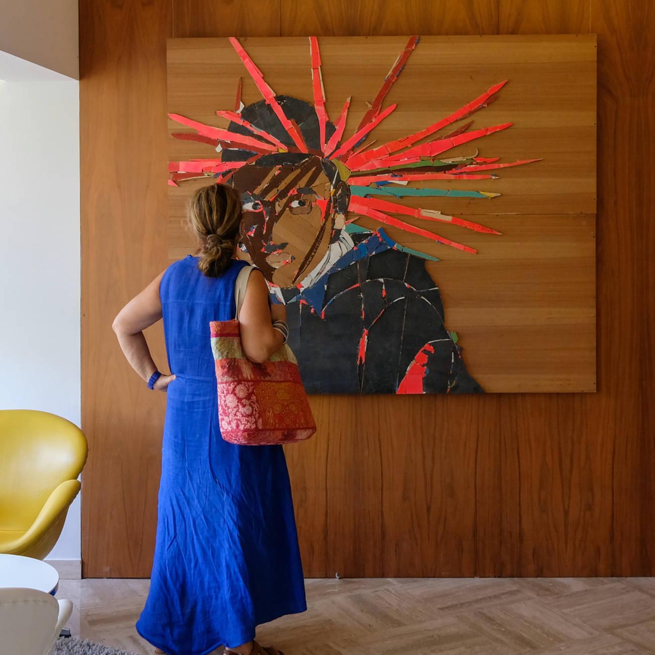 """""""Welcome to a Land of Needs and Desires"""", rencontre avec l'artiste Karim Ghelloussi et Claire Migraine, thankyouforcoming à la Vague de Saint-Paul © Evelyne Creusot"""