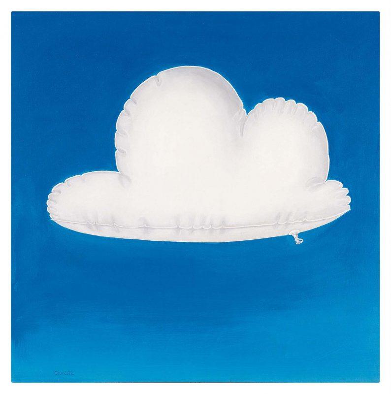Christa Dichgans Berlin (Allemagne), 1940-2018 Plastikwolke (nuage de plastique), 1969. Aquatec sur toile. 70 x 70 cm. Collection Nicole Hackert et Bruno Brunnet, Berlin. Courtesy Galerie Contemporary Fine Arts, Berlin