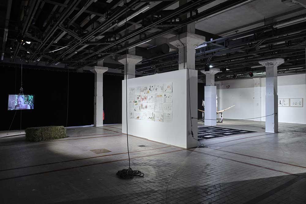 ••• Anna López Luna, vue d'exposition - Cœurs de luttes (série), 2020 - Which Future ?!, 2018 © Luc Bertrand