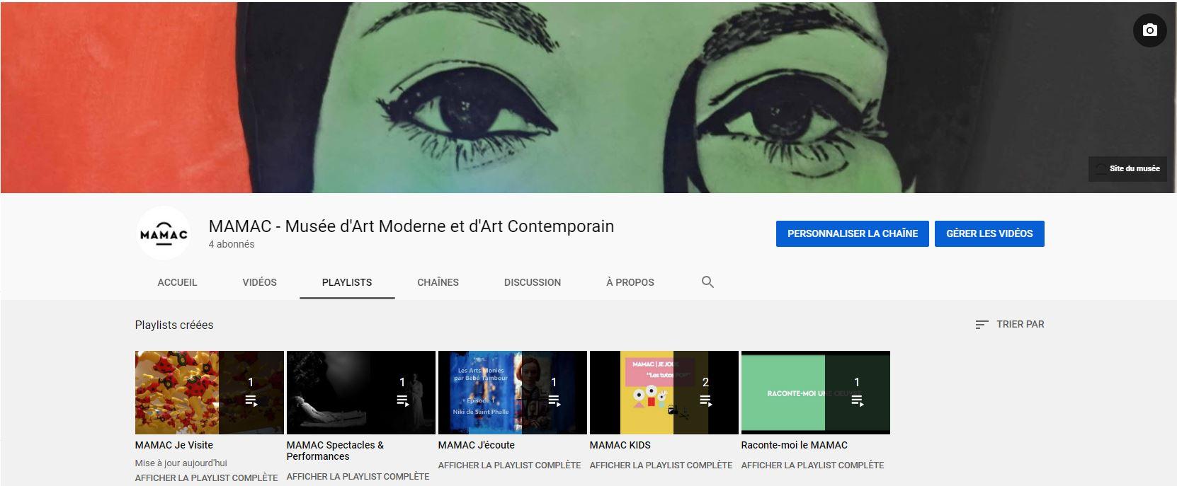 Découvrez la chaîne Youtube du MAMAC !