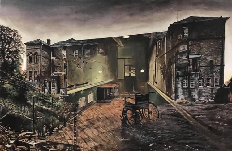 Asylum, acrylique sur toile, 130x80cm, 2020